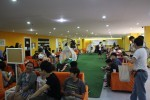 授業の合間の休憩スペース